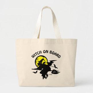 Witch On Board Jumbo Tote Bag