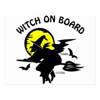 Witch On Board Postcard