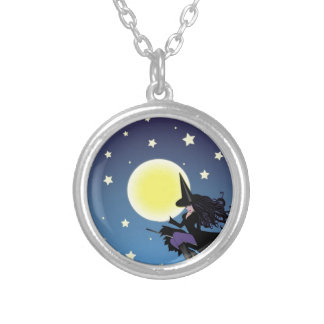 witch on broom jewelry