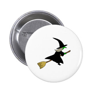 witch_on_broom.png 6 cm round badge