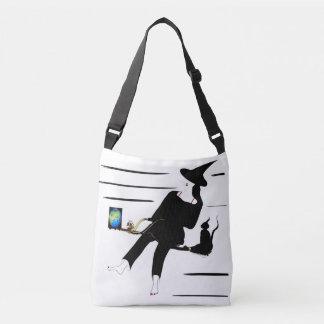 Witch on luxuriously brush crossbody bag
