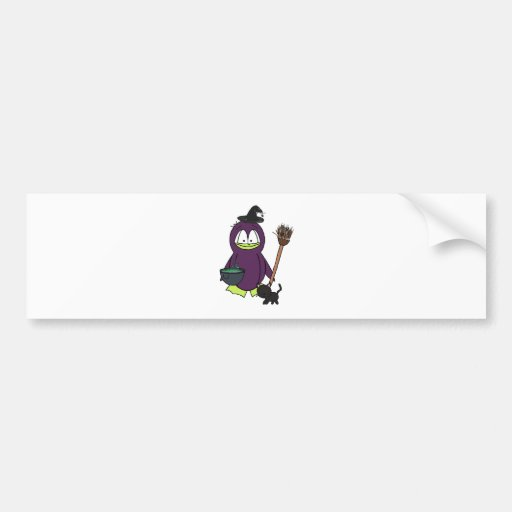 Witch Penguin Bumper Stickers