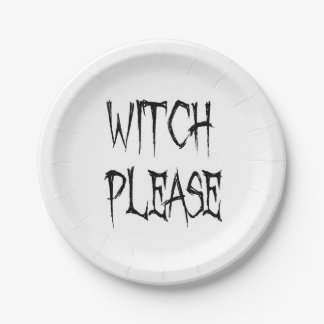Witch please paper plate