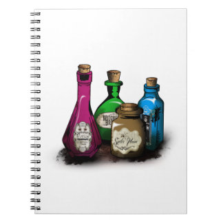 Witch Potion Bottles Notebooks