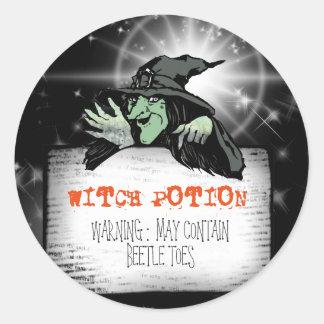 Witch Potion ID217 Round Sticker