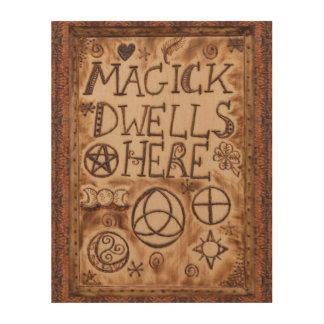 Witch Prim Triquetra, Triskele & Pentacle Sign Wood Prints