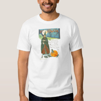 Witch Pumpkin Broom Man In The Moon Mouse Tshirt