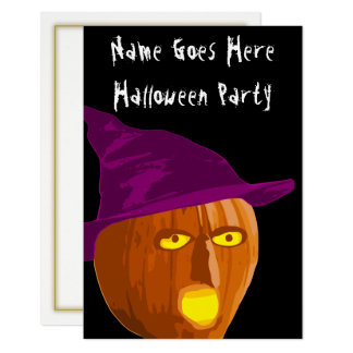 Witch Pumpkin Halloween Party Invitation