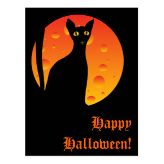 witch s cat moon_card post cards