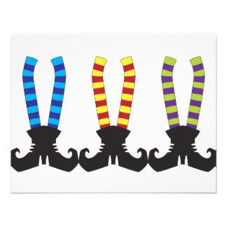 Witch s Stripy Socks Invitations