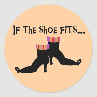 Witch Shoes T-shirts and Gifts Classic Round Sticker