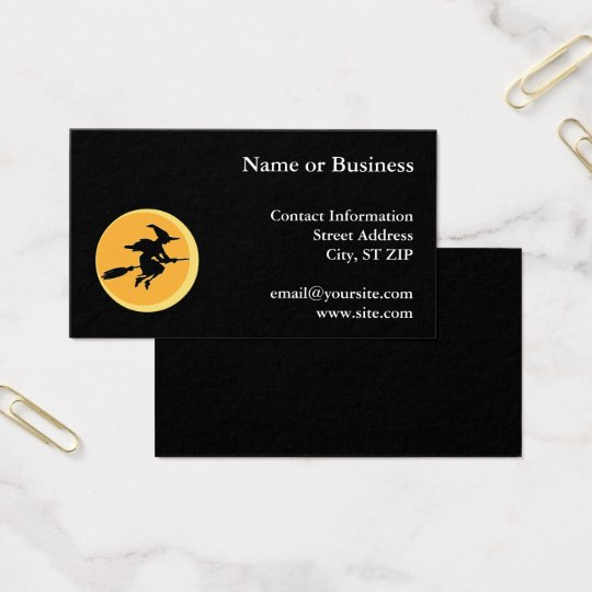 Witch Silhouette Business Card