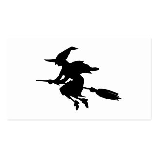 Witch Silhouette Pack Of Standard Business Cards