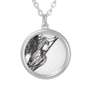 witch silver plated necklace