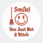 Witch Smile Round Sticker