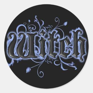 Witch Round Sticker
