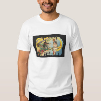 Witch threatens lovers sitting on the moon t shirt