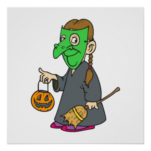 Witch Trick or Treater Posters