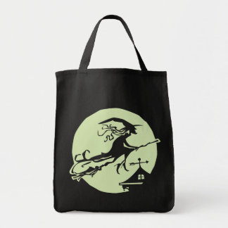 Witch Vane Moon Grocery Tote Bag
