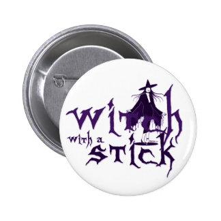 Witch w/ Stick Button
