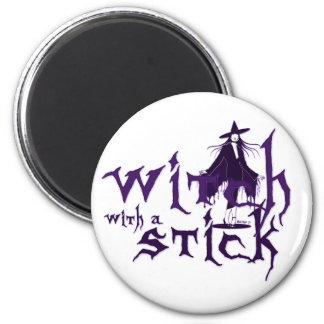 Witch w/ Stick Magnet