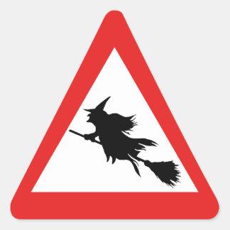 Witch Warning Triangle Sticker