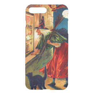 Witch Watching Children Owl Black Cat iPhone 7 Plus Case