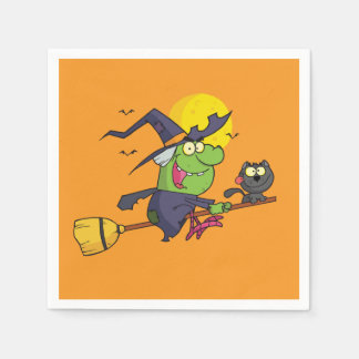 Witch Way To The Party? Halloween Party Napkins Disposable Napkins