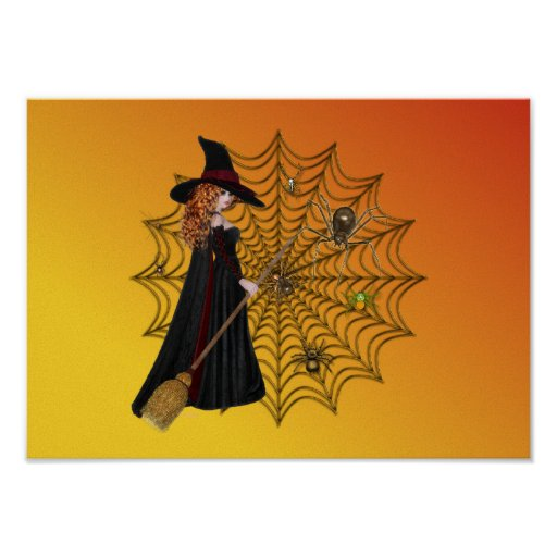Witch & Web Poster Poster