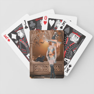 Witch with Black Cat 2 Playing Cards