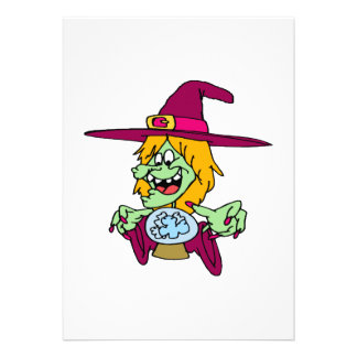 Witch with Crystal Ball Custom Invite