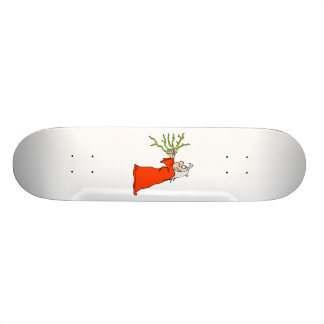 Witch with Lightening Skate Board Deck