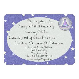 Witch Wizard Pagan Hat Magic 13 Cm X 18 Cm Invitation Card