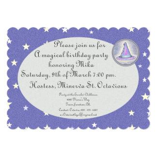 "Witch Wizard Pagan Hat Magic 5"" X 7"" Invitation Card"