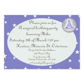 Witch Wizard Pagan Hat Magic 5x7 Paper Invitation Card