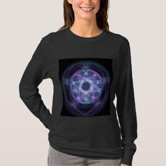 Witchcraft Blue Fire Pentagram T-Shirt