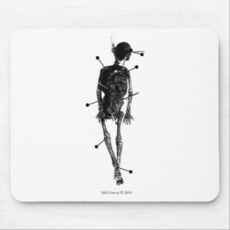 Witchcraft Skeleton Witch Doll Mouse Pads