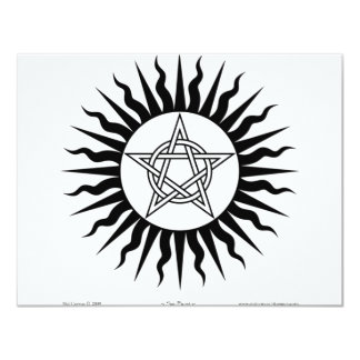 Witchcraft: Sun Burst; Pentagram circle 11 Cm X 14 Cm Invitation Card