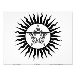 Witchcraft Sun Burst Pentagram circle Custom Invites