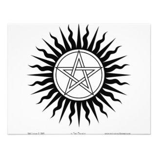 Witchcraft Sun burst Pentegram 2 Invites