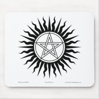 Witchcraft; Sun burst: Pentegram #2 Mouse Pad