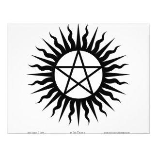 Witchcraft Sun burst Pentegram Custom Announcement