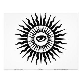 Witchcraft Sunburst Eye Personalized Announcements
