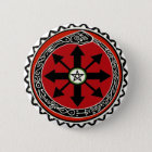 Witchcraft Symbol for Chaos 6 Cm Round Badge
