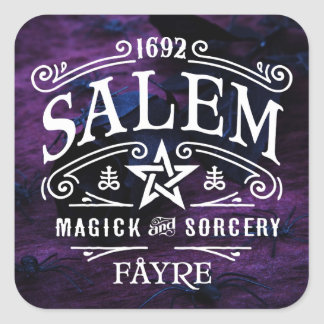Witches' 1692 Salem Sorcery Fayre Square Sticker