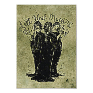 Witches All Hail Mabeth Card