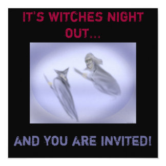 Witches Blue Night Out Invitation