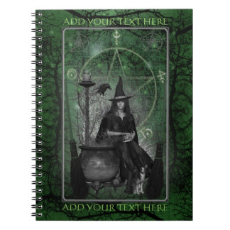 Witches Book of Shadows - Notebook (Green)