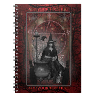 Witches Book of Shadows - Notebook (Red)