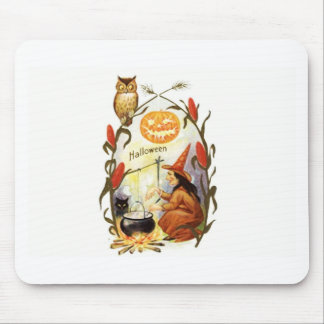 Witches Brew Vintage Halloween Mouse Pad